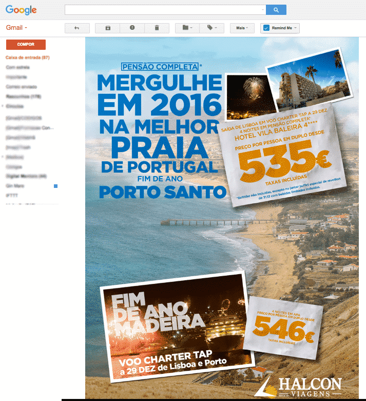 newsletter terrivel da halcon