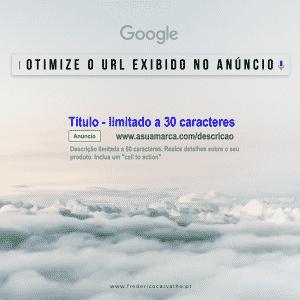 Otimize o URL exibido no seu anúncio de pesquisa para que seja relevante para o produto ou serviço que está a promover